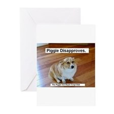 The Piggie Von Espie Greeting Card of Disapproval