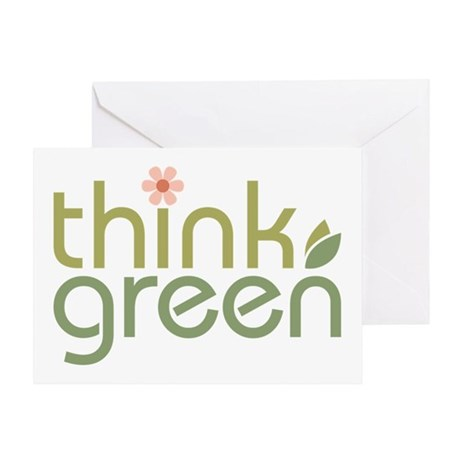 Think Green [text2] Greeting Card