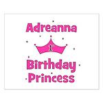 1st Birthday Princess Adreann Small Poster