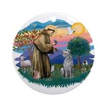 St Francis #2/ S Deer. #2 Ornament (Round)
