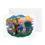 St Francis #2/ S Deer. #2 Greeting Cards (Pk of 10