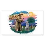 St Francis #2/ S Deer. #2 Sticker (Rectangle)