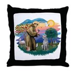 St Francis #2/ S Deer. #2 Throw Pillow