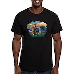 St Francis #2/ S Deer. #2 Men's Fitted T-Shirt (da