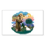 St Francis #2/ Sealyham T Sticker (Rectangle)