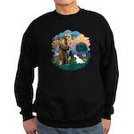 St Francis #2/ Sealyham T Sweatshirt (dark)