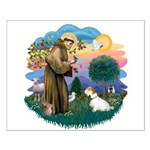 St Francis #2/ Sealyham T Small Poster