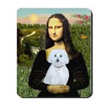 Mona Lisa / Maltese (B) Mousepad