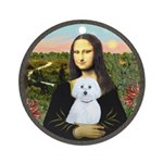 Mona Lisa / Maltese (B) Ornament (Round)