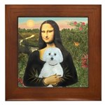 Mona Lisa / Maltese (B) Framed Tile