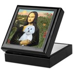 Mona Lisa / Maltese (B) Keepsake Box