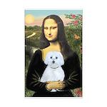 Mona Lisa / Maltese (B) Mini Poster Print