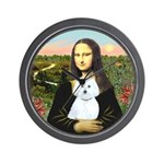 Mona Lisa / Maltese (B) Wall Clock