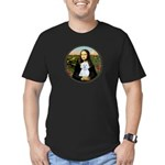 Mona Lisa / Maltese (B) Men's Fitted T-Shirt (dark