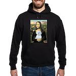 Mona Lisa / Maltese (B) Hoodie (dark)
