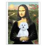Mona Lisa / Maltese (B) Small Poster