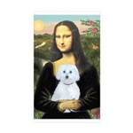 Mona Lisa / Maltese (B) Sticker (Rectangle 10 pk)