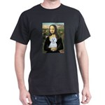 Mona Lisa / Maltese (B) Dark T-Shirt