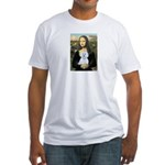 Mona Lisa / Maltese (B) Fitted T-Shirt
