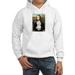 Mona Lisa / Maltese (B) Hooded Sweatshirt