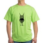 Big Nose Great Dane Green T-Shirt