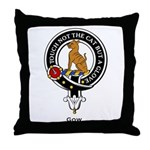Gow Clan Crest badge Throw Pillow