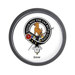 Gow Clan Crest badge Wall Clock