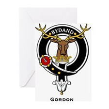 Gordon Clan Crest Badge Greeting Cards (Package of