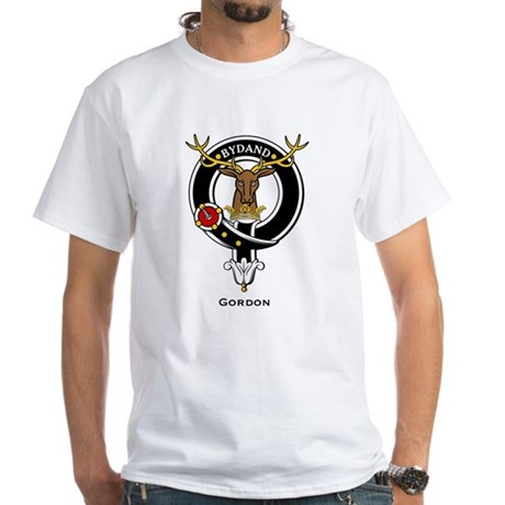 Gordon Clan Crest Badge White T-Shirt