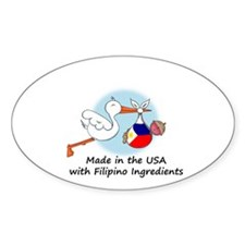 Stork Baby Philippines USA Decal