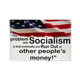 Problem with Socialism Rectangle Magnet
