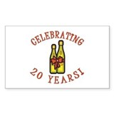 20th Anniversary Wine Bow Decal