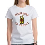 25th Anniversary Wine Bow Tee