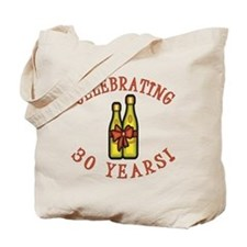 30th Anniversary Wine Bow Tote Bag
