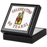 40th Anniversary Wine Bow Keepsake Box