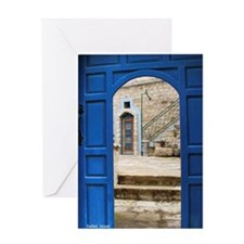 Safed Mystical Doors Photo Greeting Card