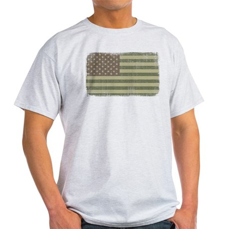 Camo American Flag [Vintage] Light T-Shirt