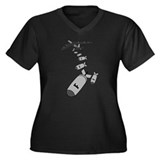 Dropping F Bombs Women's Plus Size V-Neck Dark T-S