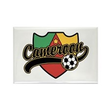 Cameroon Soccer Rectangle Magnet