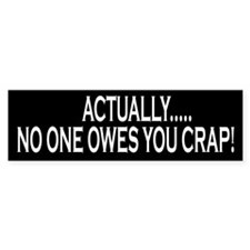 Actually No One Owes You Crap Sticker Sticker 10pk