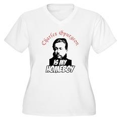 Spurgeon Homeboy Women's Plus Size V-Neck T-Shirt