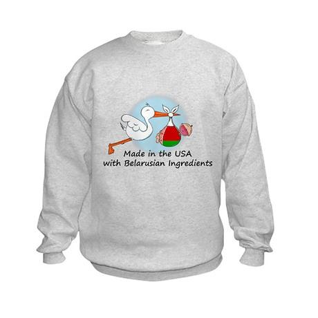 Stork Baby Belarus USA Kids Sweatshirt