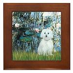 Lilies #1 - Maltese (B) Framed Tile