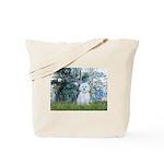 Lilies #1 - Maltese (B) Tote Bag