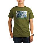 Lilies #1 - Maltese (B) Organic Men's T-Shirt (dar