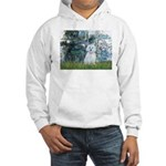 Lilies #1 - Maltese (B) Hooded Sweatshirt