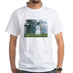 Lilies #1 - Maltese (B) White T-Shirt