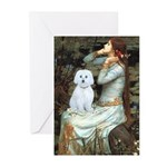 Ophelia (#1) - Maltese (B) Greeting Cards (Pk of 2