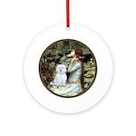 Ophelia (#1) - Maltese (B) Ornament (Round)