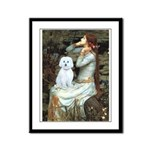 Ophelia (#1) - Maltese (B) Framed Panel Print